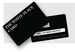 white place card